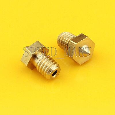 New 0.3/0.4/0.5mm Nozzle 3D Printer Extruder Print Head for J-head 1.75mm/3.0mm