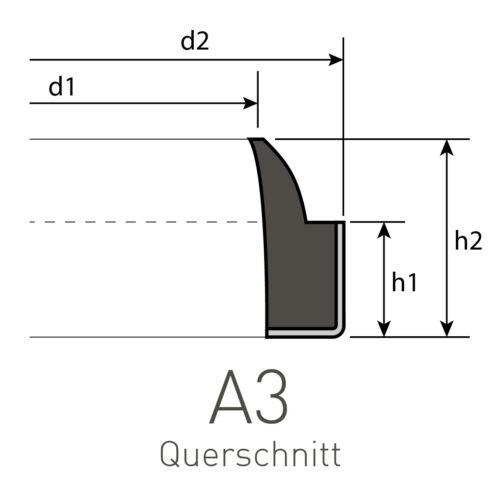 25 Abstreifer 30 x 40 x 5//8 mm aus PU//Metall Profil AP-3