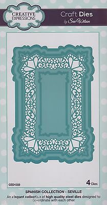 CREATIVE EXPRESSIONS Craft Die by Sue Wilson Spanish Collection SEVILLE  CED1203