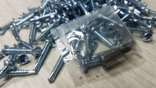 """Self Drilling Pan Head Screws 1LB 200Pc  #8 x 1/"""" Metal to Metal 20-12 GA"""