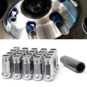 For Toyota Honda Mazda 12X1.5 Wheel Tuner Racing 7Pt RED Lug Nut Bolt X20+Key