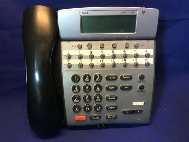 Office Lot of 3 NEC Dterm 80 Phones DTH-16D-2 Black 2008 Telecom ...