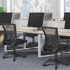Adjustable Office Fabric Mesh Computer Swivel Desk Chair Ergonomic Back Black