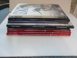 MIXED-LOT-OF-9-HEAVY-METAL-FANTAGRAPHICS-ETC-IMPORT-TPB-HC-ROYO-ANITA-BOMBA