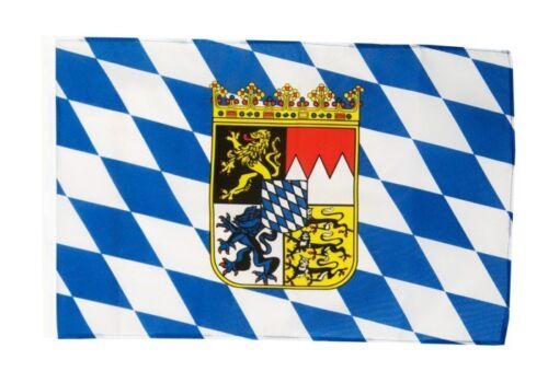 Allemagne Bavière avec blason Bannière BAVAROISE Drapeaux Drapeaux 30x45cm