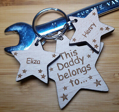 Best uncle in personalised place wooden keyring ideal gift keepsake