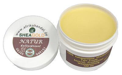 3x100ml pure kaltgepresste Sheabutter wild organic unraffiniert Premium Qualität