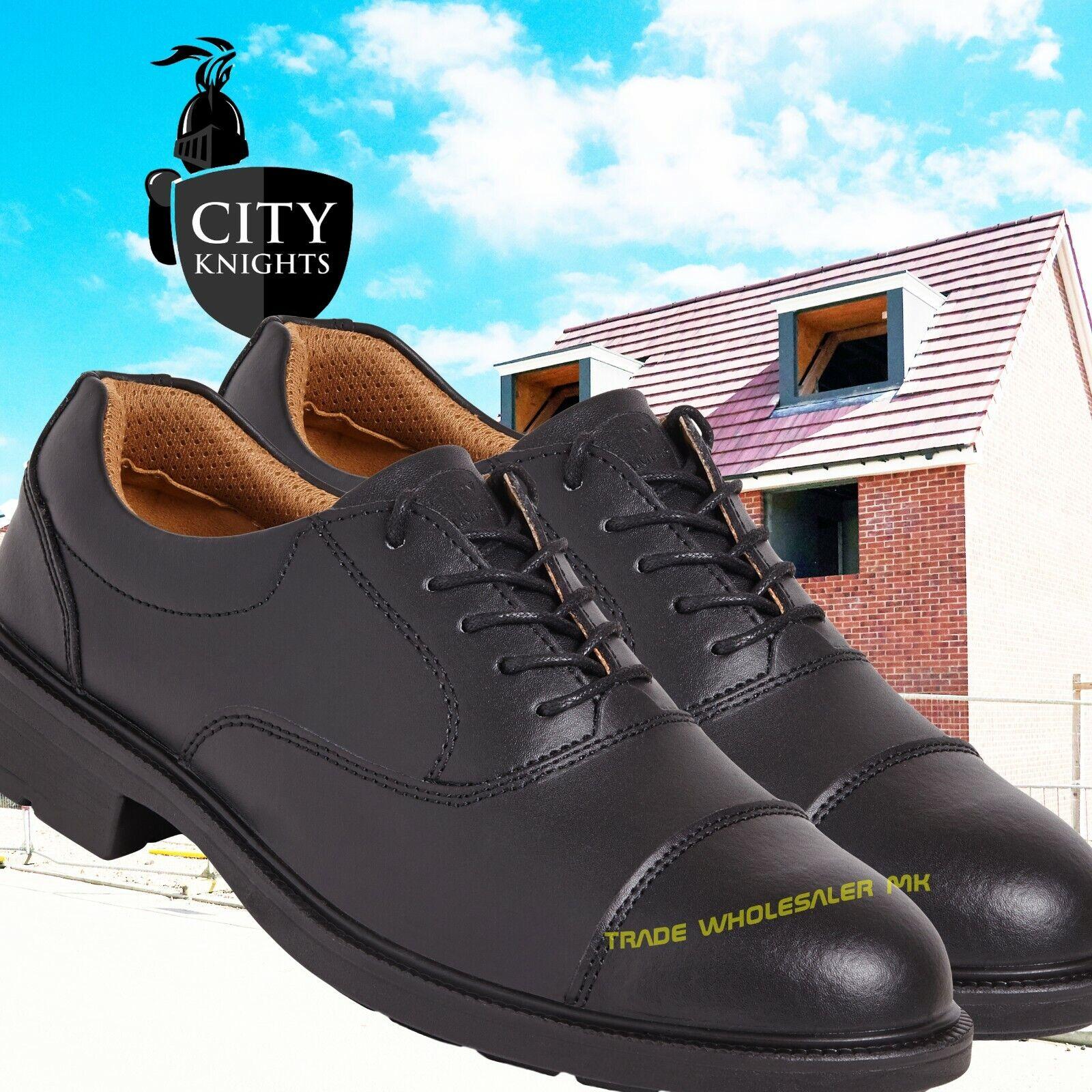 Sterling SS501CM Oxford Black Safety Work shoe Steel Toe Cap OFFER PRICE