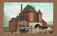 Vancouver,BC British Columbia,Canada C.V.R.Station, Railroad railway horse coach