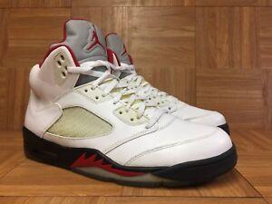 Lobo Euc Sz Negro Fuego 13 Blanco Jordan V 5 Air Gris Rojo Retro 100 136027 Nike xqxB7zwS