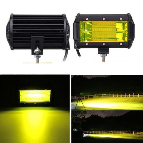 "2X 5/"" Yellow Lens LED Car Work Light Bar Flood Boat Driving Offroad ATV Lamp"