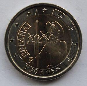 Don Quijote de la Mancha 2 € commemorative euro coin 2005 SPAIN