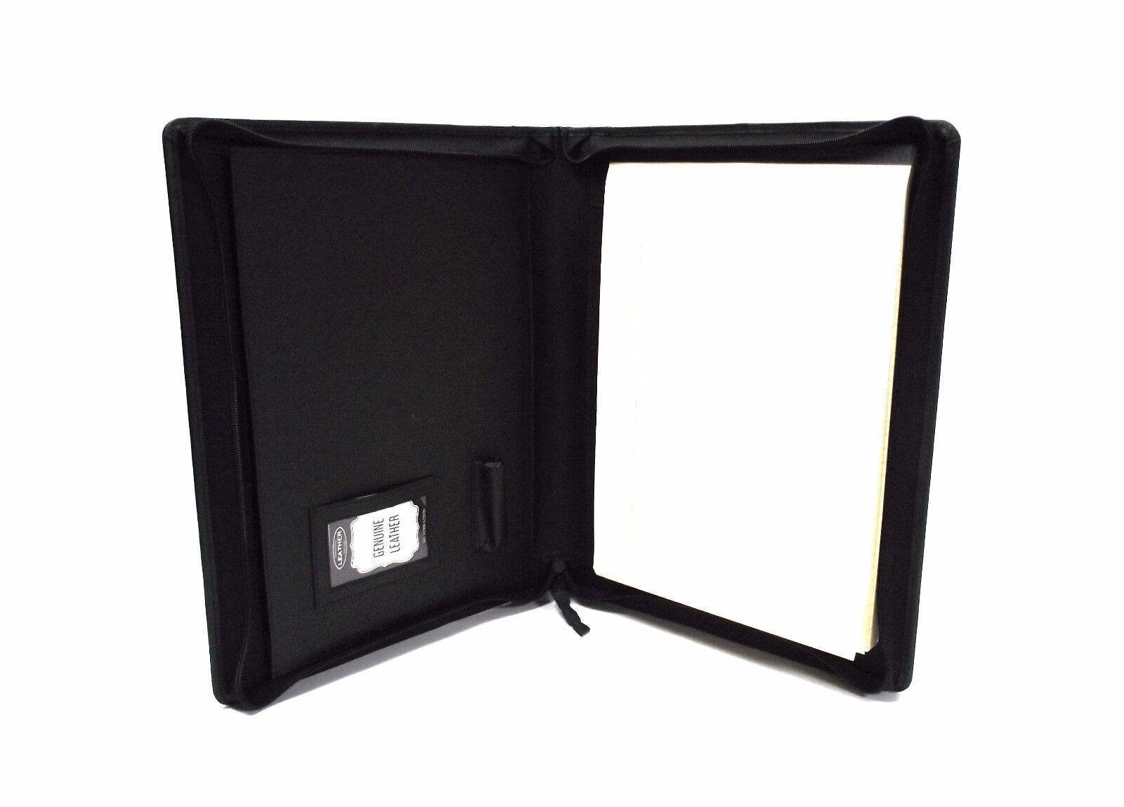 Cuero black Carpeta de presentación CARTERA CON Personalización OPCION it08 1