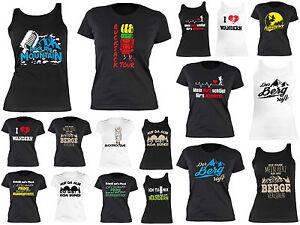 61ab3d88e1ccc0 Das Bild wird geladen Damen-T-Shirt-Bergsteigen-Wandern-Klettern -Sportshirt-Bersteigerin-