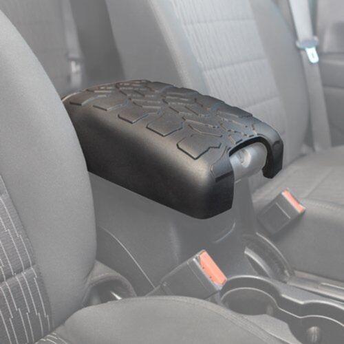 Black Center Console Cover Armrest Cushion Pad for 2011-2016 Jeep Wrangler JK