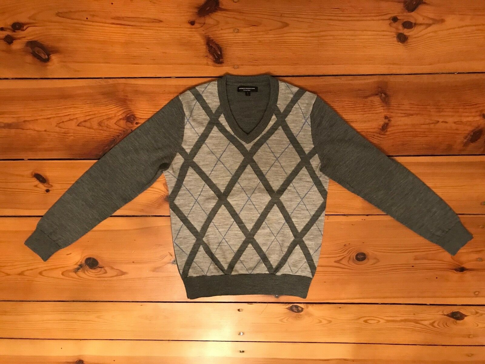 Express Design Studio Pullover Puli Gr. S wie NEU 100% Merinowolle grau edel