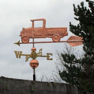 "Architectural & Garden Weathervanes & Lightning Rods Spirited Copper "" ""pick Up Truck "" Weathervane Made In Usa #522"