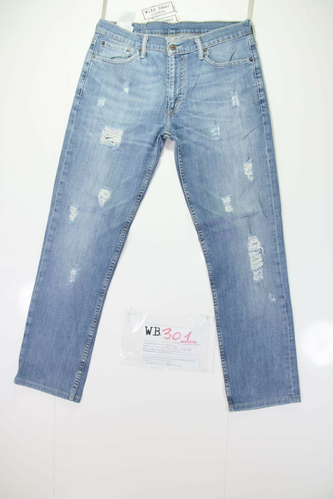 Levis 511 Stretch Customized (code WB301) tg.47 tg.47 WB301) W33 L jeans remake destroy 0fcf52