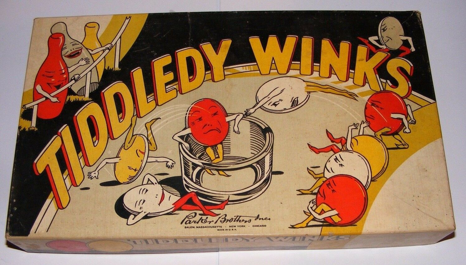 RARE RARE RARE Tiddledy Winks Game by Parker Bredhers 6d4551