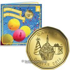 Canada 2016 Birthday 5 Coin Mint Gift Set w/ Cupcake & Present $1 Loonie Dollar
