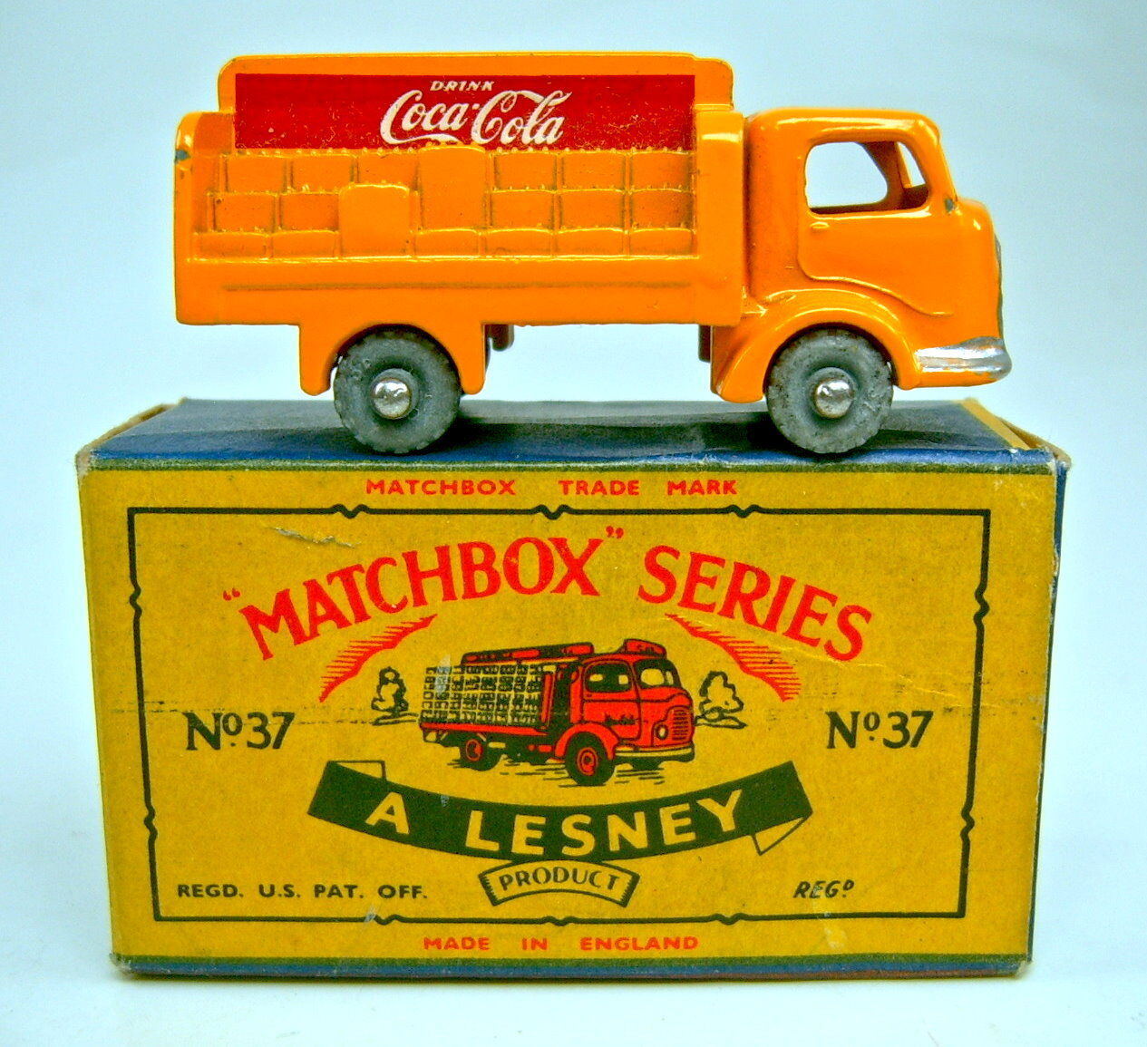 Matchbox Rw 37a Coca Cola Truck uneven load in  C  box