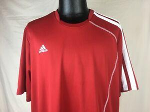 Adidas-Climalite-Clima-Lite-Red-Lacrosse-Jersey-Men-039-s-Size-2XL-XXL
