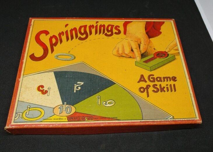 Vintage 1930s Game Springrings-A Game of Skill