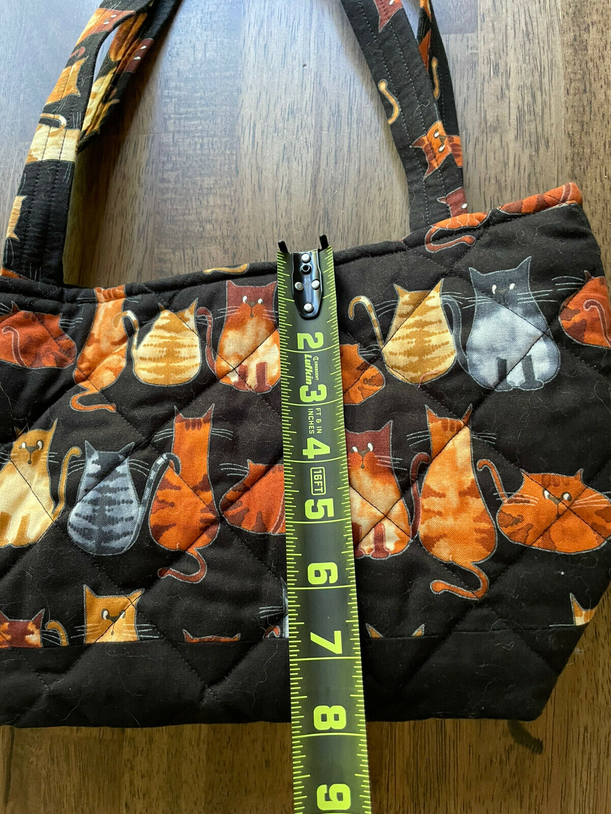 Kitten Cat Quilted Tote Purse Bag - image 4