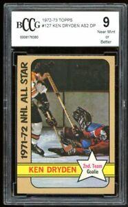 1972-73 Topps #127 Ken Dryden AS2 Card BGS BCCG 9 Near Mint+