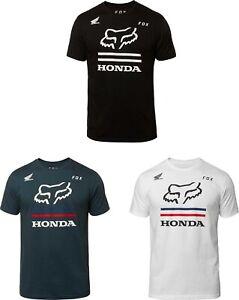 Fox Racing x Honda Mens Honda Premium Short Sleeve T Shirt Black