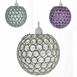 Crystal effect lamp shades