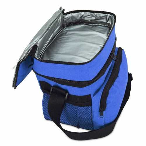 """Great for Picnic Beer Water Cooler Insulated Pocket 10/"""" Lunch Bag With Cooler"""
