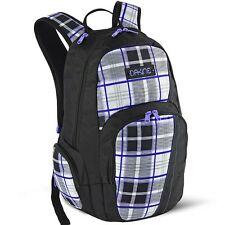 Dakine FINLEY 25L Whitley Purple Plaid Sunglass Pocket Zipper Closures Backpack
