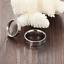 Anello-Coppia-Fedine-Fidanzamento-Acciaio-Amore-Cuore-Spezzato-Love-Idea-Regalo miniatura 3