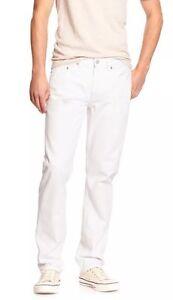 Banana Republic Men's New Off White.Size 35X32.Premium Slim Fit Jeans Denim $90