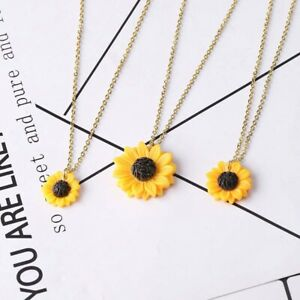 Sunflower-Small-daisy-Resin-Pendants-Necklace-15-18-25mm-Jewelry-Women-039-s-Gift-AU