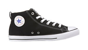 8c0488d128 Details about Converse Shoes Men Women Unisex All Star Chuck Taylor Street  Mid Black Natural
