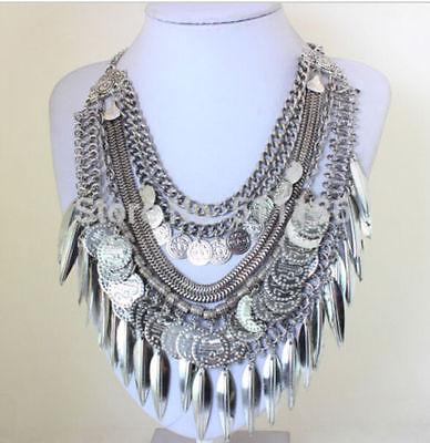 2015 New Design Lady Bib Statement tassel boho ally dangle necklace collar hot