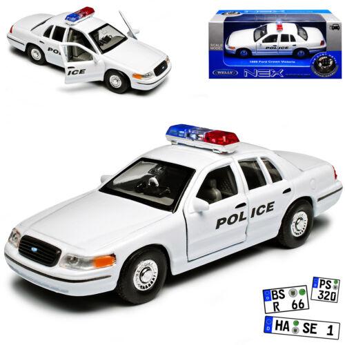 Ford Crown Victoria policía blanco con negro Police fuente 2 Generation 199