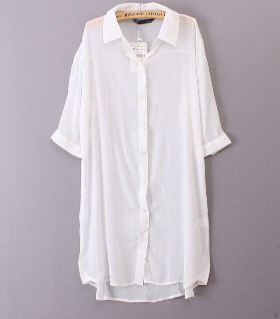 Women Chiffon Sheer Long Cardigan Sun Protection Maxi Dress Jacket Coat One Size