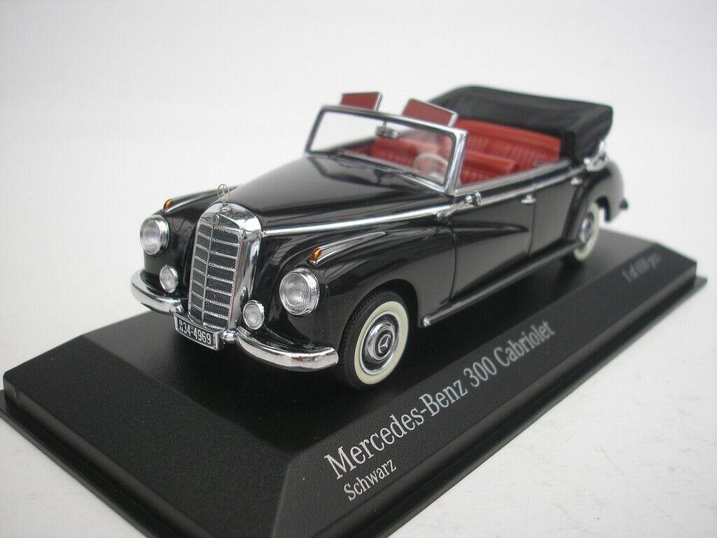 Mercedes Benz 300 cabriolet 1952 negro 1 43 Minichamps nuevo
