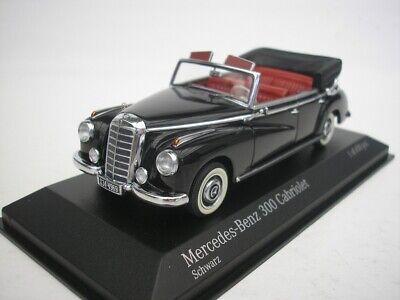1952 schwarz 1:43 Minichamps neu W186 OVP 4370323130 Mercedes 300 Cabrio