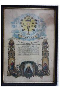 Andenken-der-ersten-heiligen-Kommunion-1889