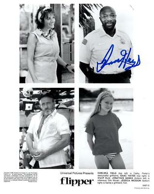 Isaac Hayes In Flipper Signed Autographed 8x10 Photo W/coa Entertainment Memorabilia