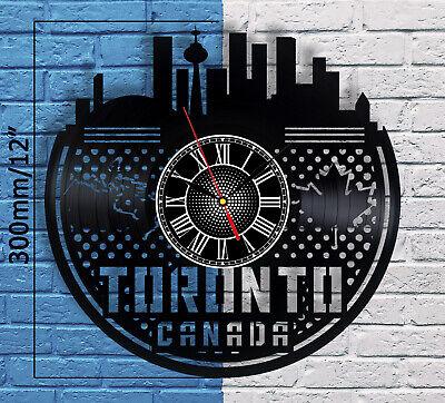 Toronto Skyline Vinyl Record Wall Clock