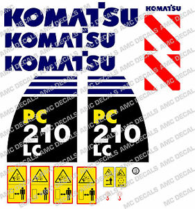 Komatsu Pc210lc -8 Digger Decal Sticker Set-afficher Le Titre D'origine