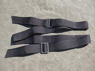 """Black Nylon USGI Rifle Sling /""""Silent Sling/""""  New Never Issued Steel Buckles"""