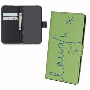 Schutz Hülle für Samsung Galaxy S6 Lachen Grün Tasche Case Cover Leder-Imitat