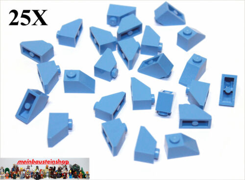 25X Lego® 3040 Dachsteine Roof Slope 1X2 45° medium Blau Hellblau Blue NEU