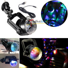 1PC Auto Car Disco DJ Stage Lighting LED RGB Crystal Ball Lamp Bulb Light Party